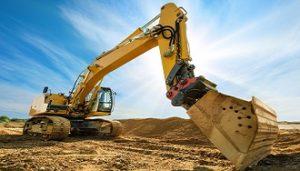 Bulldozer Scooping Dirt